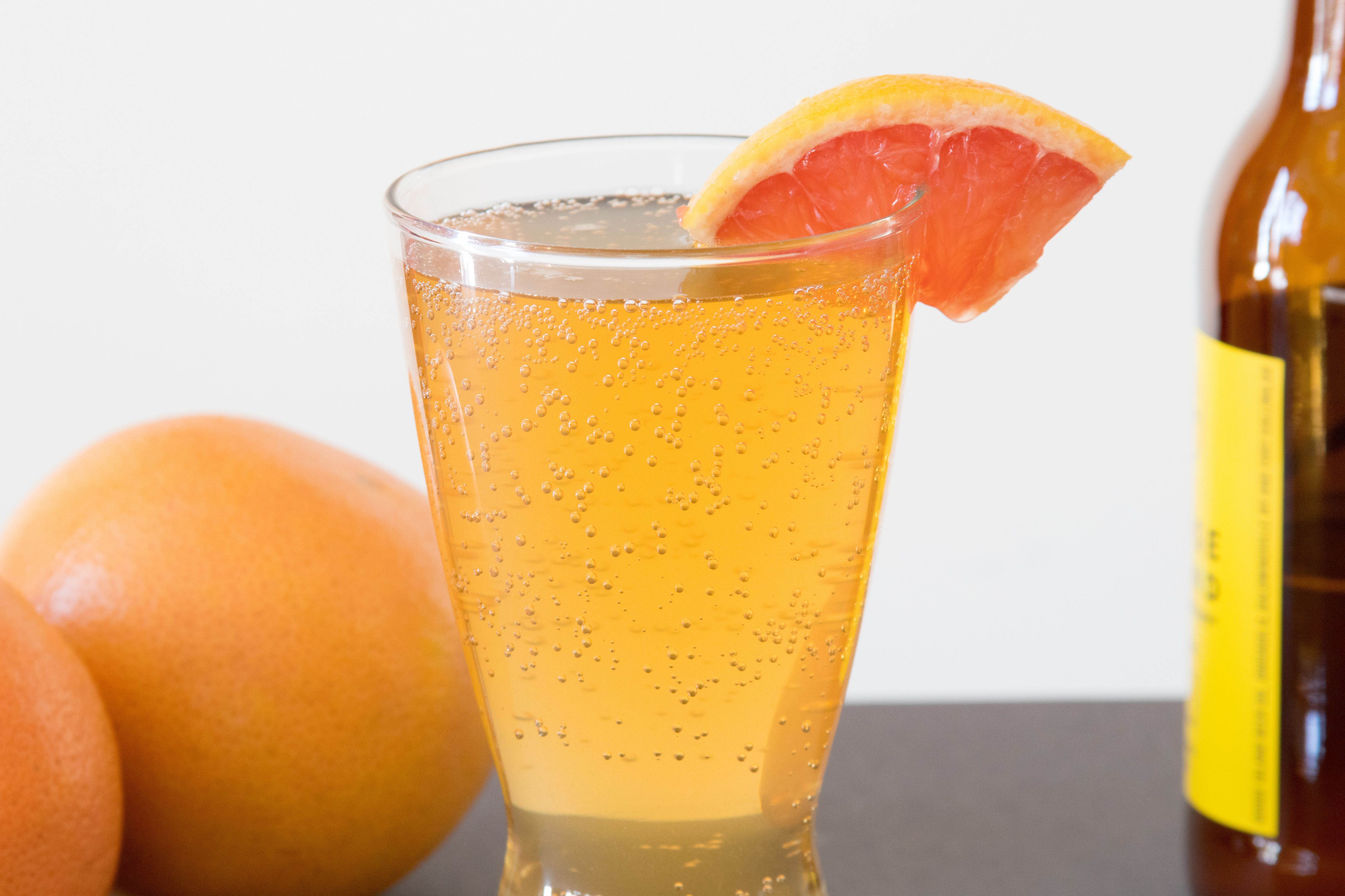 Grapefruit Garnish for a Grapefruit Shandy
