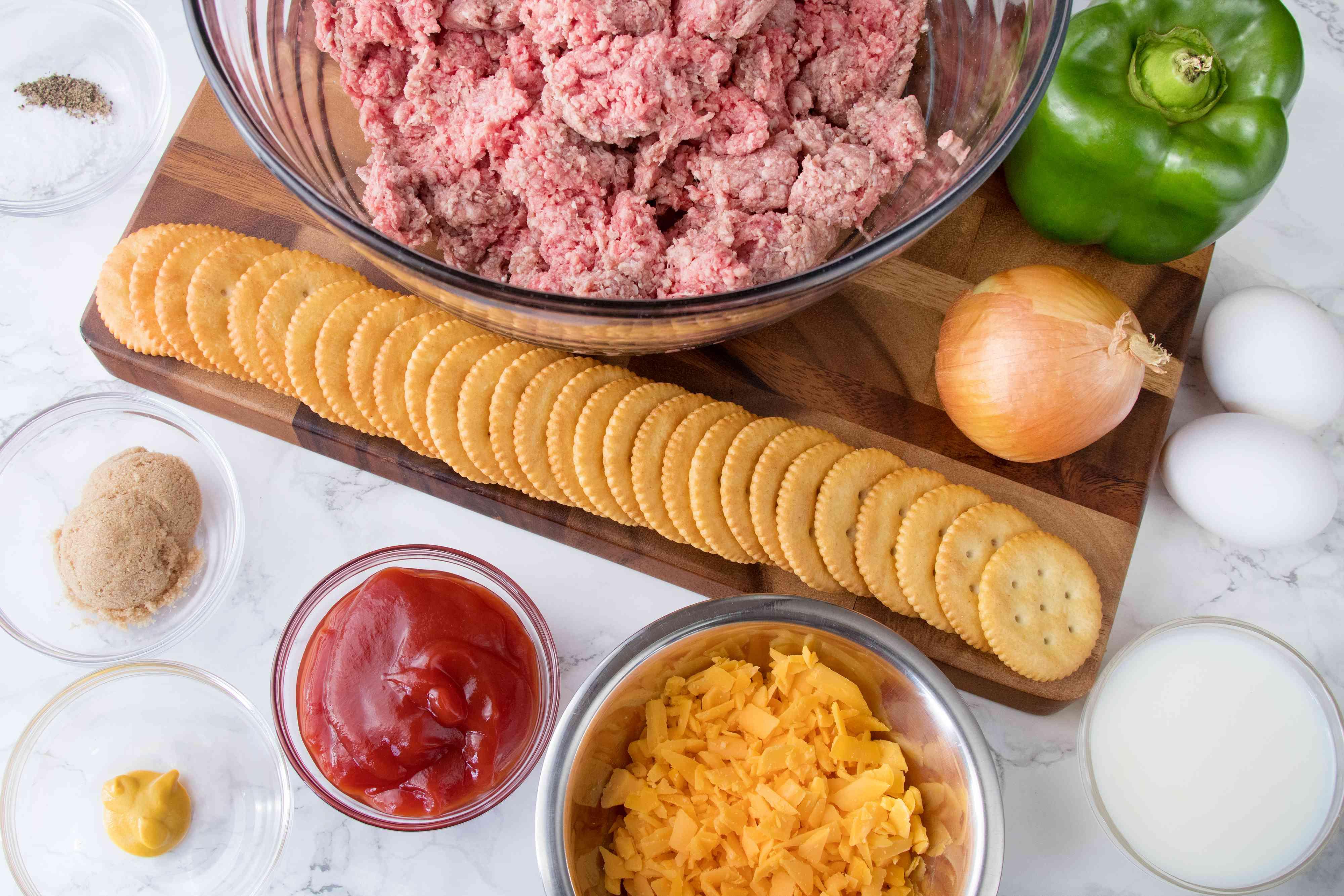 Ingredients for Copycat Cracker Barrel Meatloaf