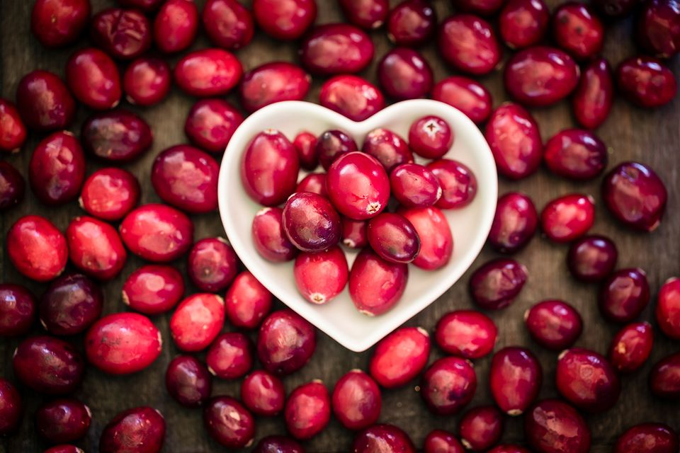 A cluster of pomegranate seeds