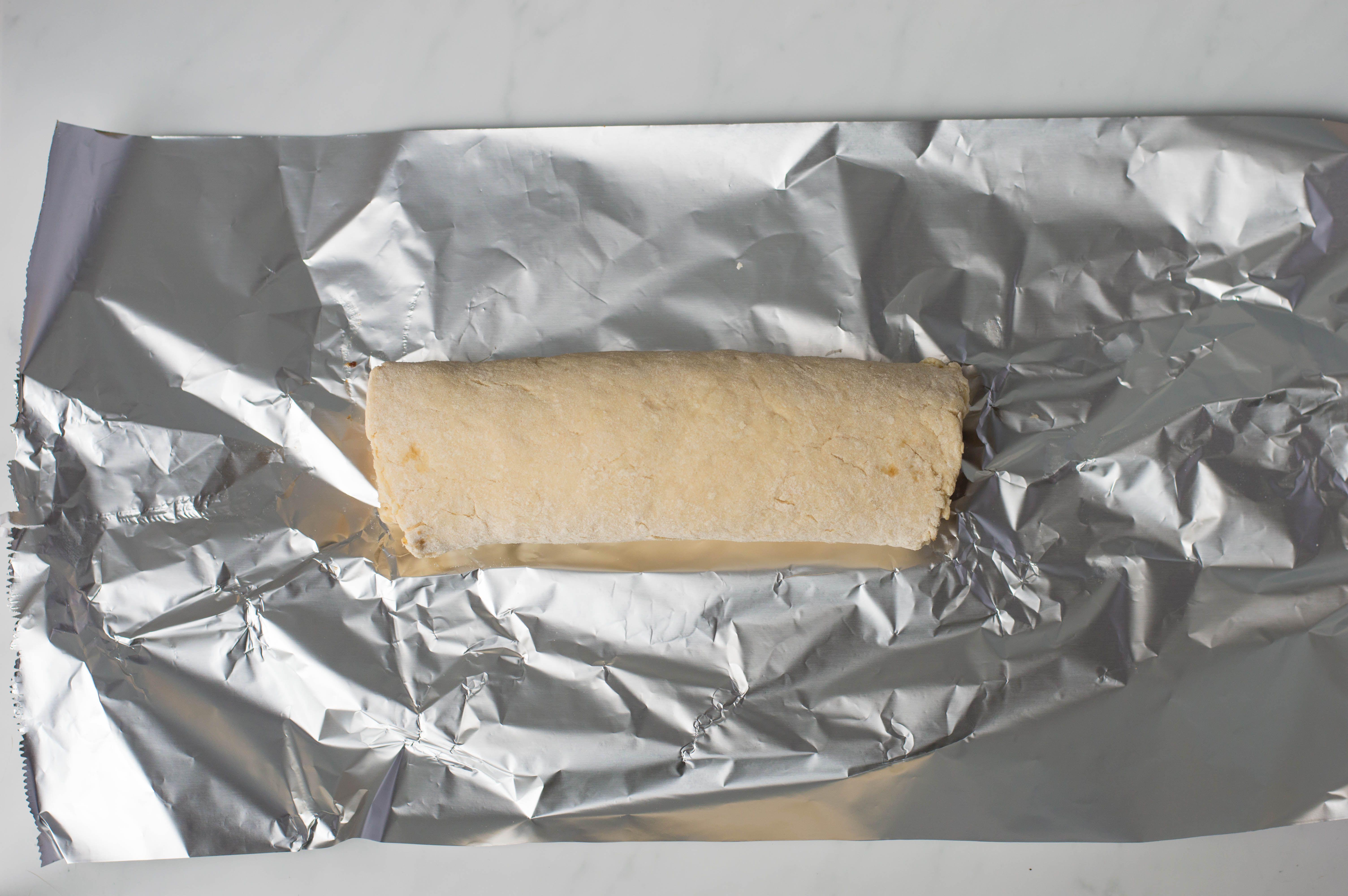 Dough roll on foil
