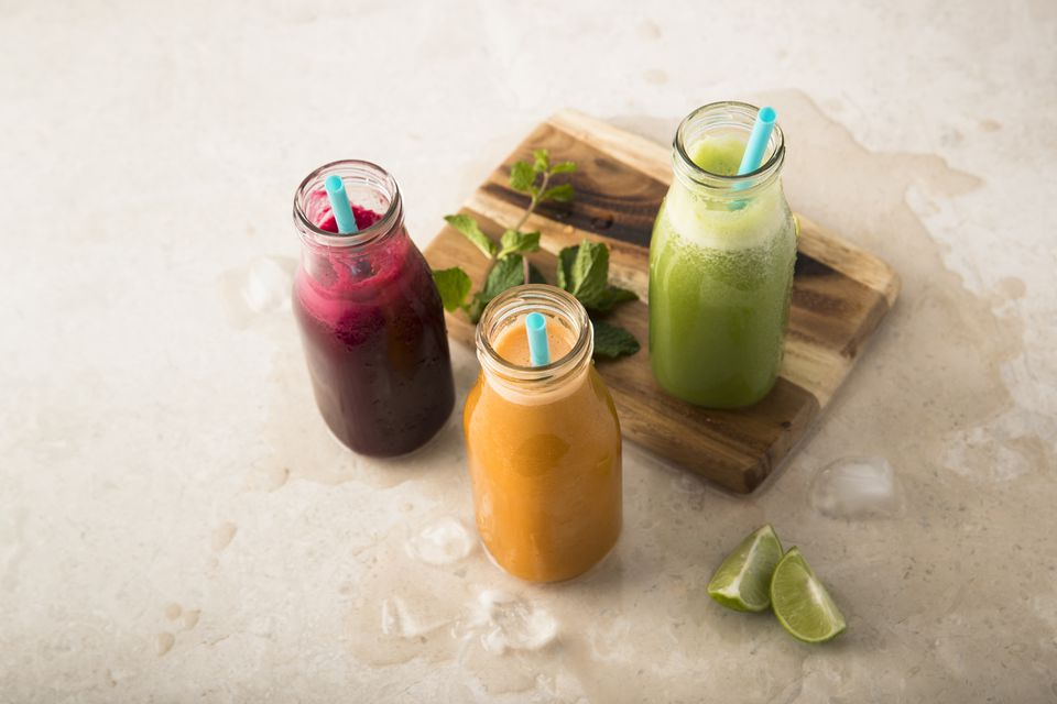 Colorful juices