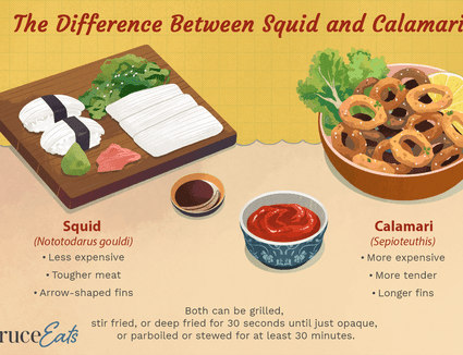 Difference Between Squid and Calamari