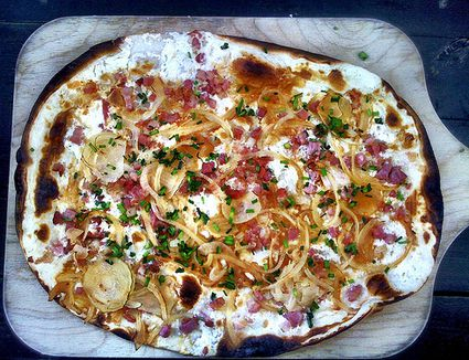 Flammkuchen - Thin, Pizza-Like Dinner