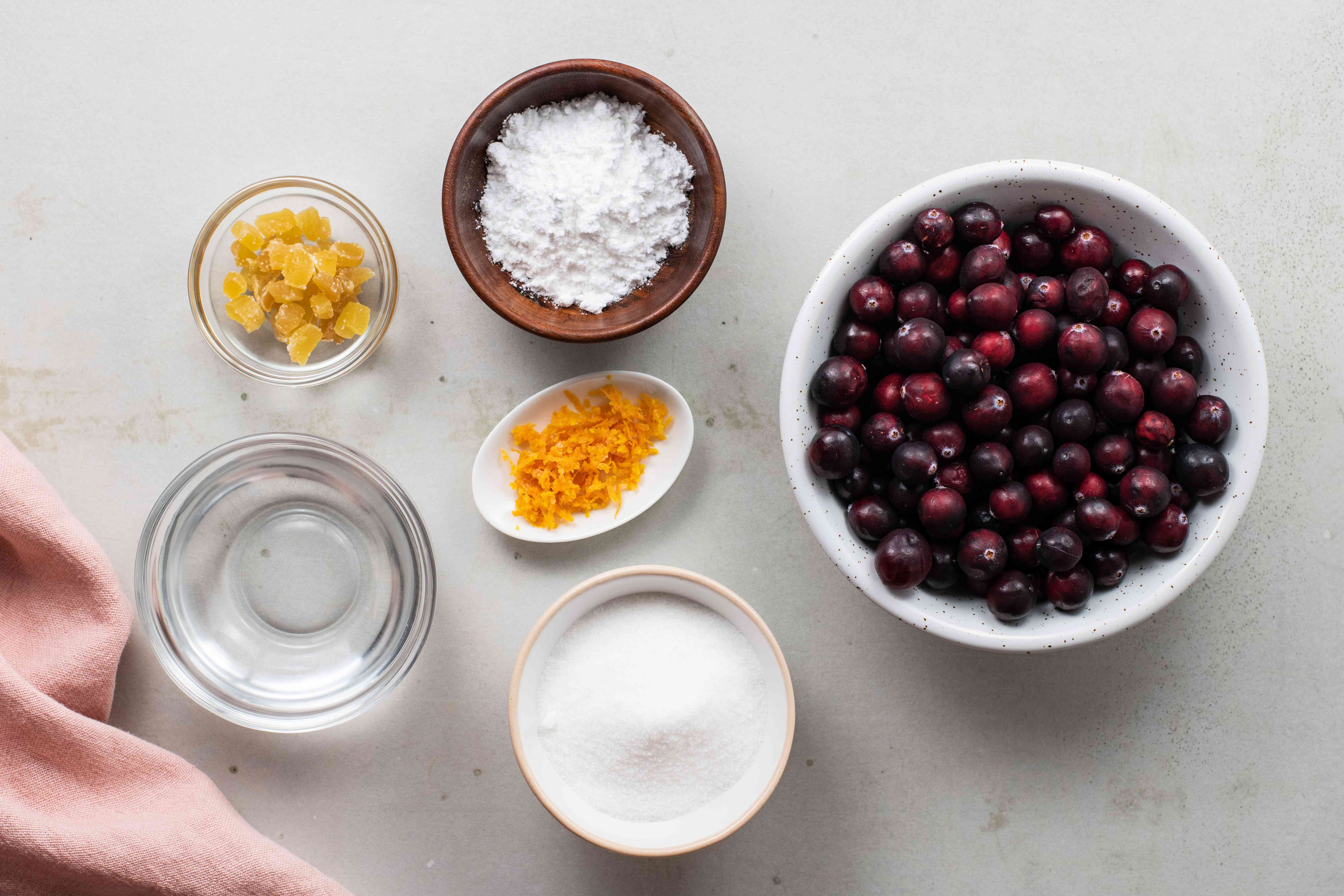 Ingredients for jam