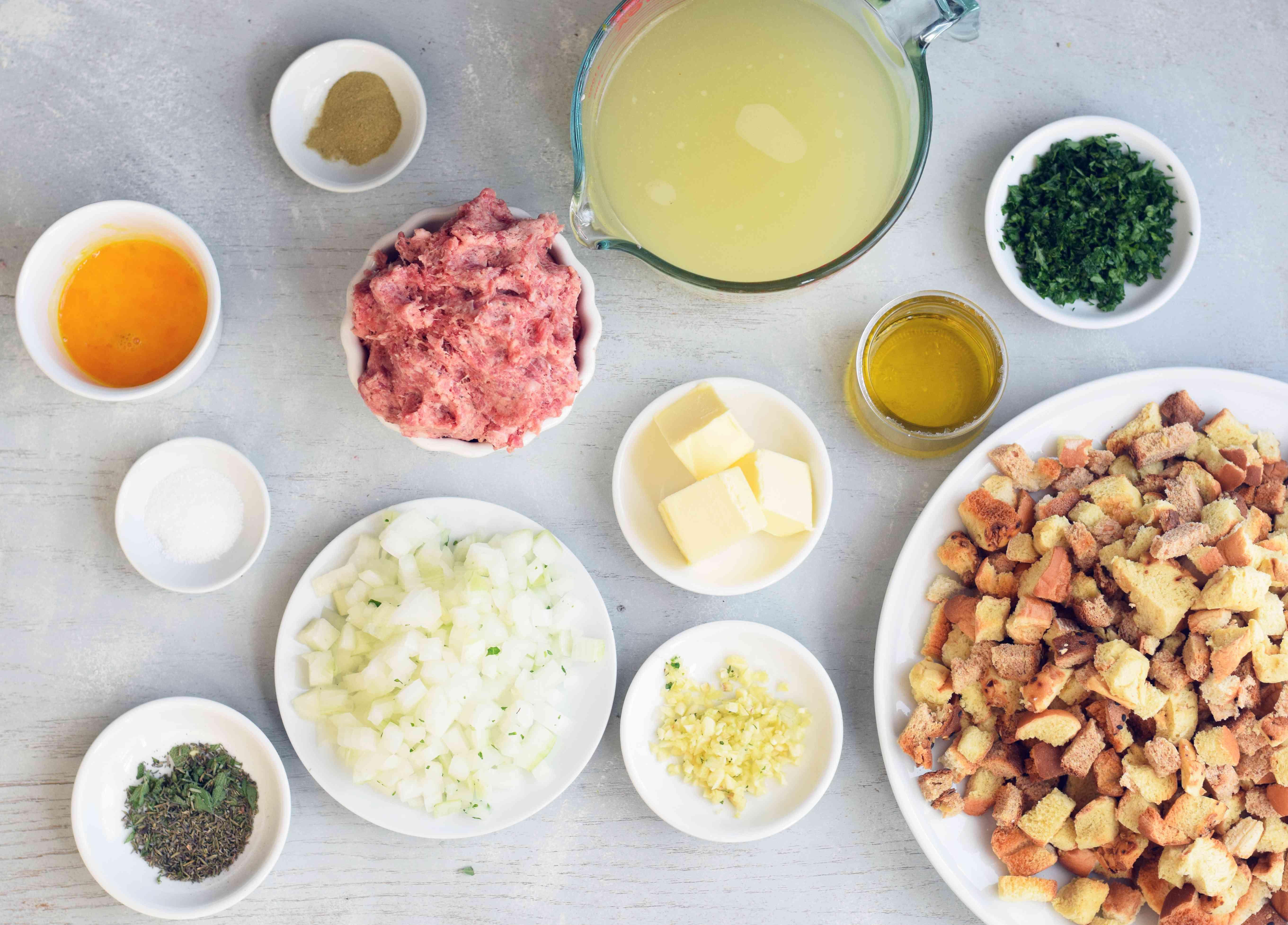 Stuffing Muffins ingredients