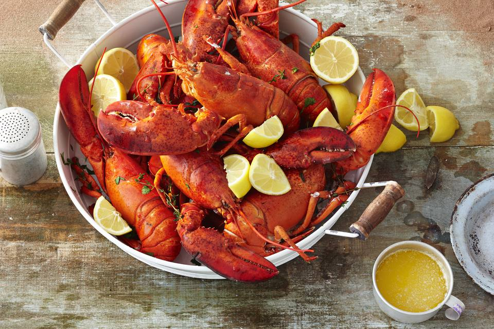 Cooked lobstser
