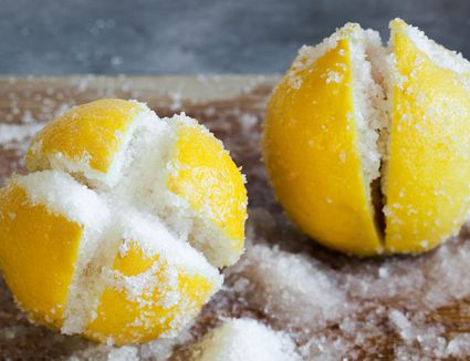 lemons packed with salt