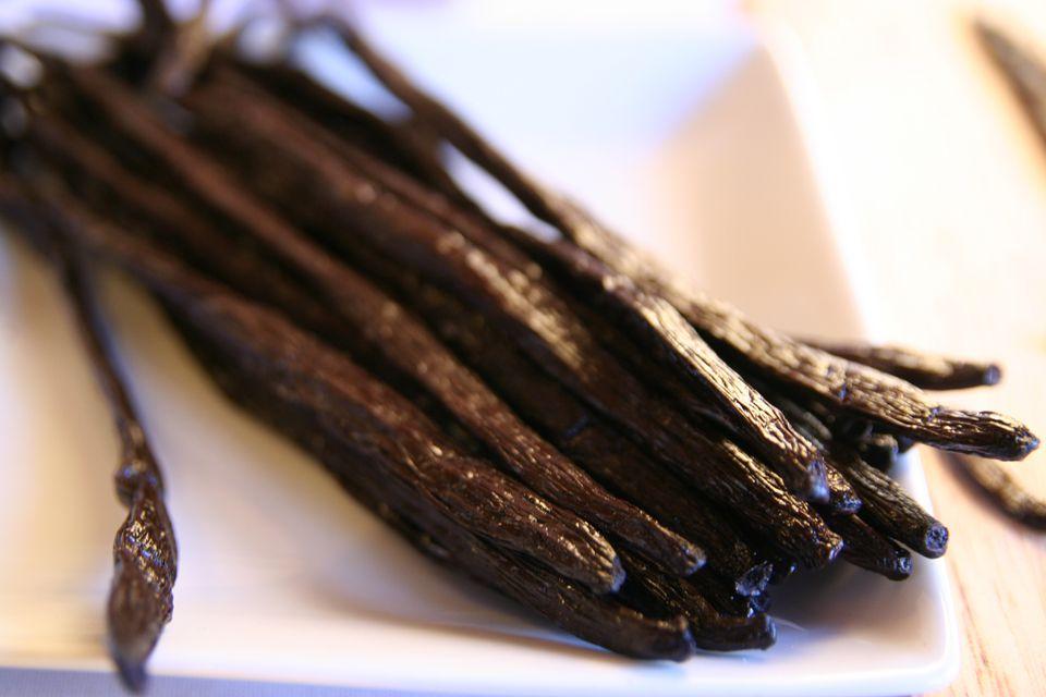 Close up of Gourmet Vanilla Beans