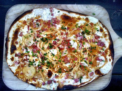 Flammkuchen - Thin, Pizza-Like Dinner