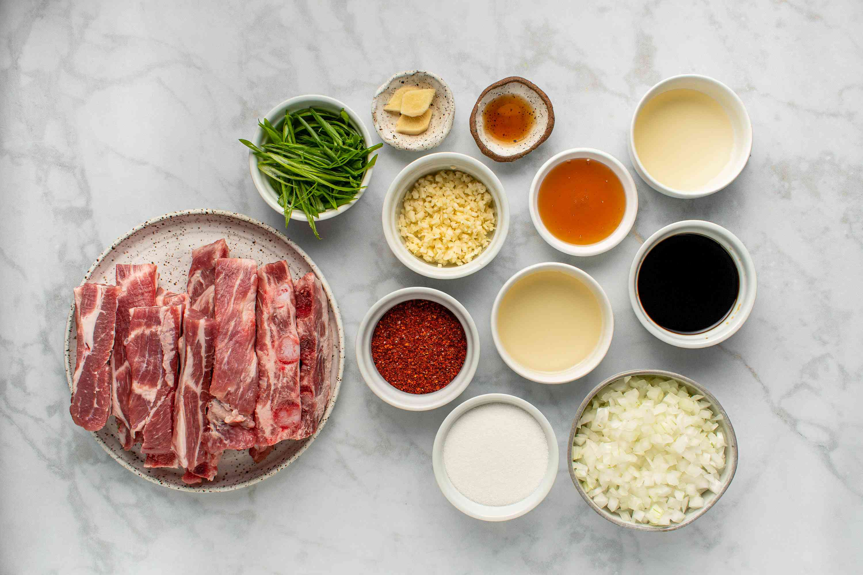 A Recipe for Korean Sweet and Spicy Pork Spareribs ingredients