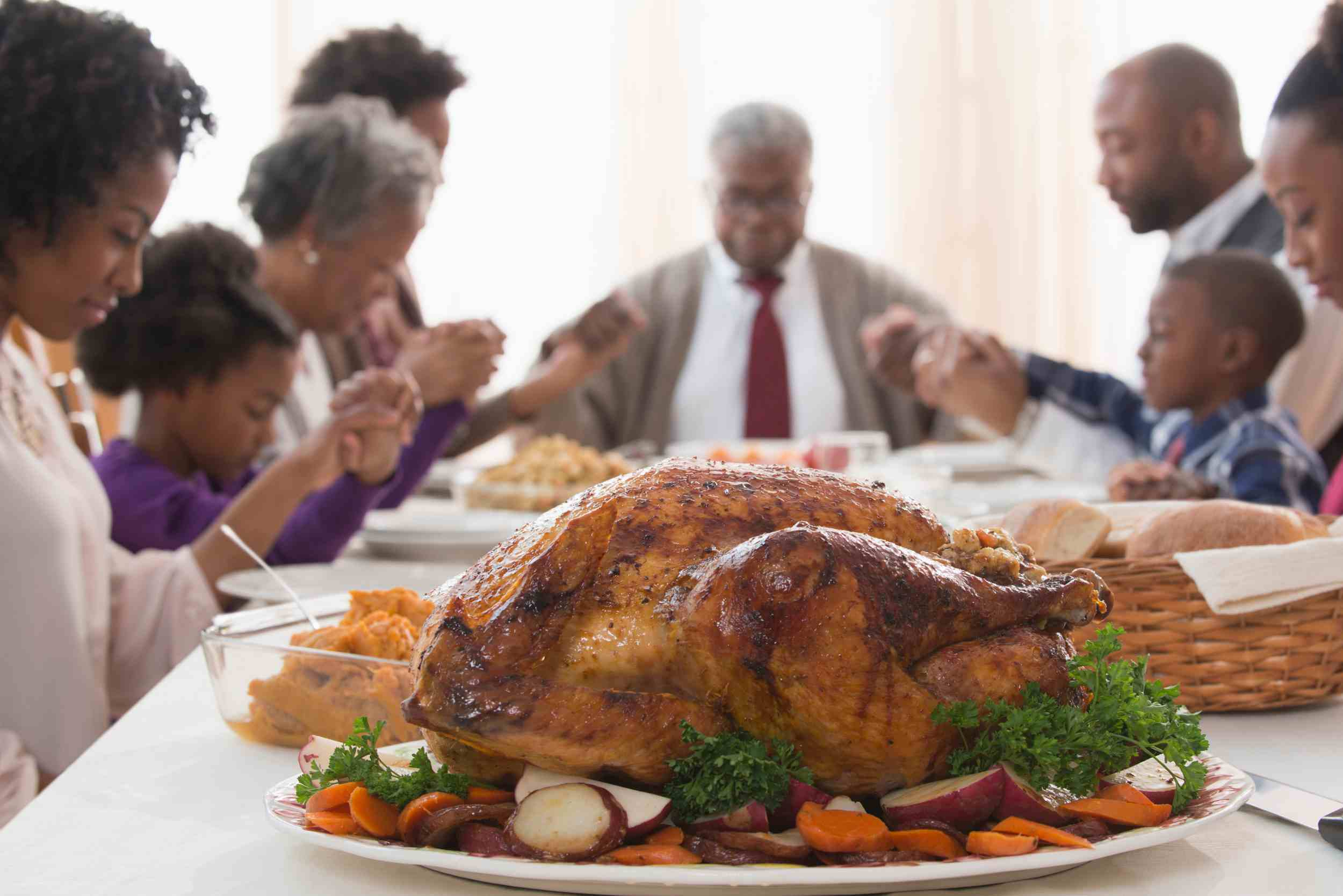 An 18-pound turkey will feed 8 to 12 people