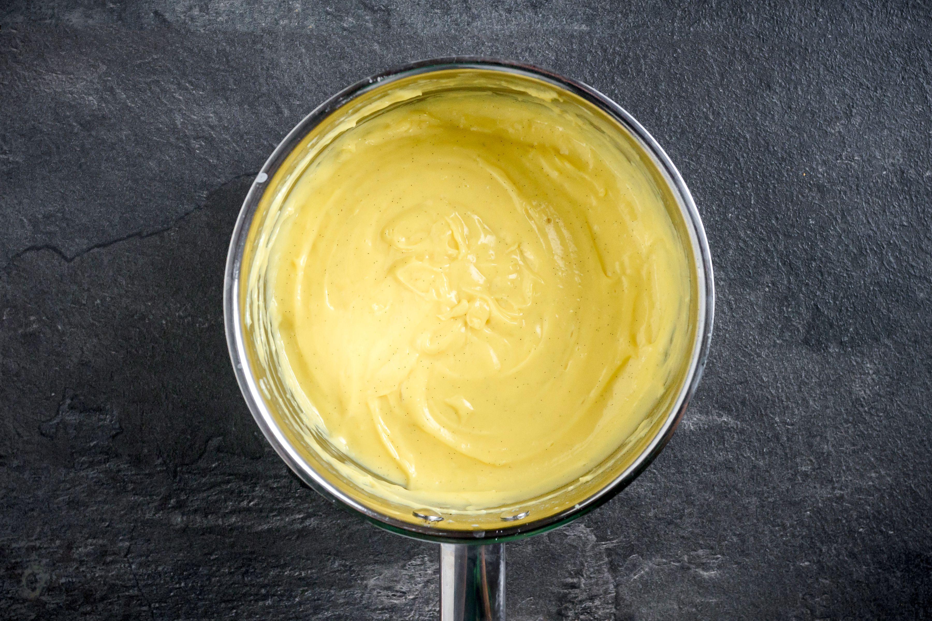Custard in a pan