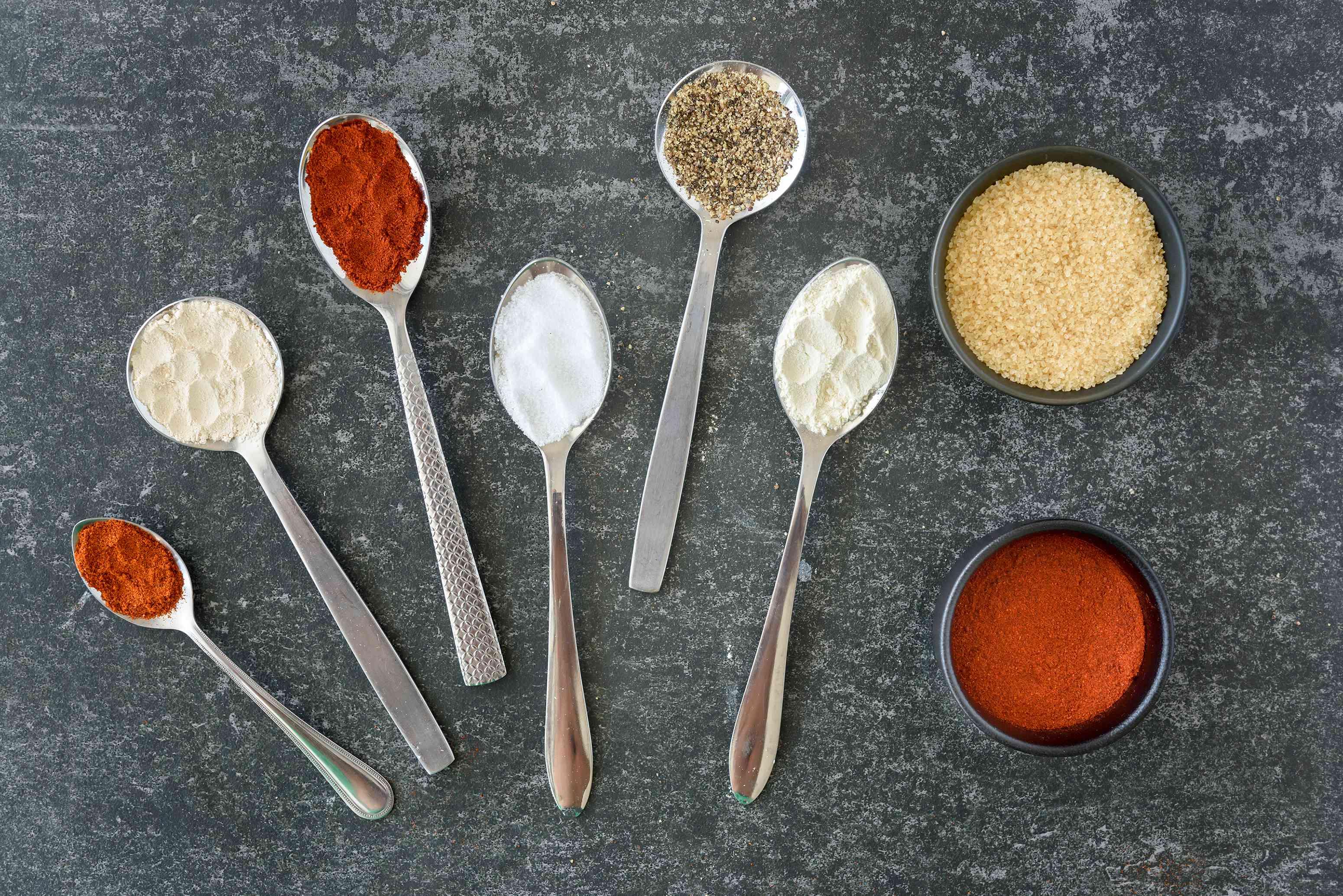 Ingredients for Kansas City rib rub