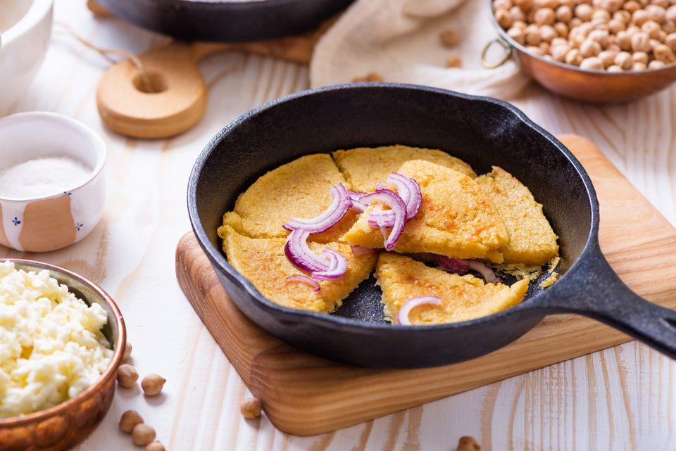 how to make chickpea flour - ligurian chickpea pancake (farinata)