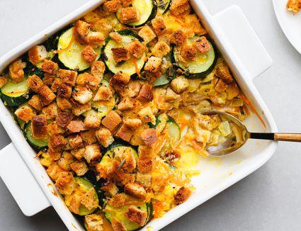 Zucchini and Stuffing Casserole