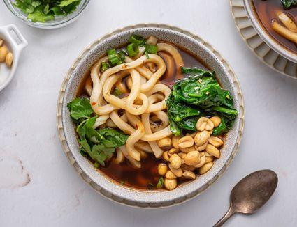 Japanese Vegan Udon Noodle Soup