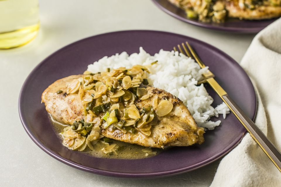 Easy skillet chicken with almonds