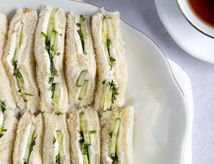 Cucumber Cream Cheese Tea Sandwiches