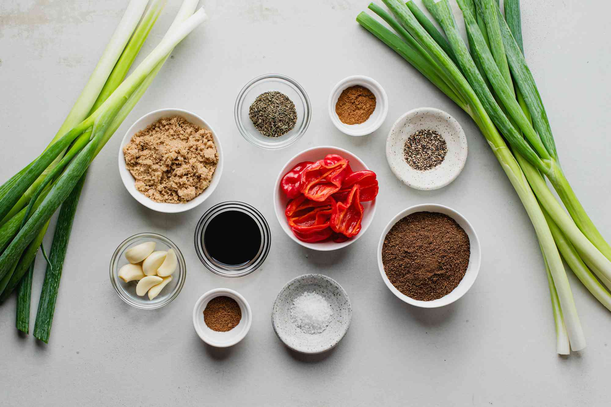 Ingredients for Jamaican jerk
