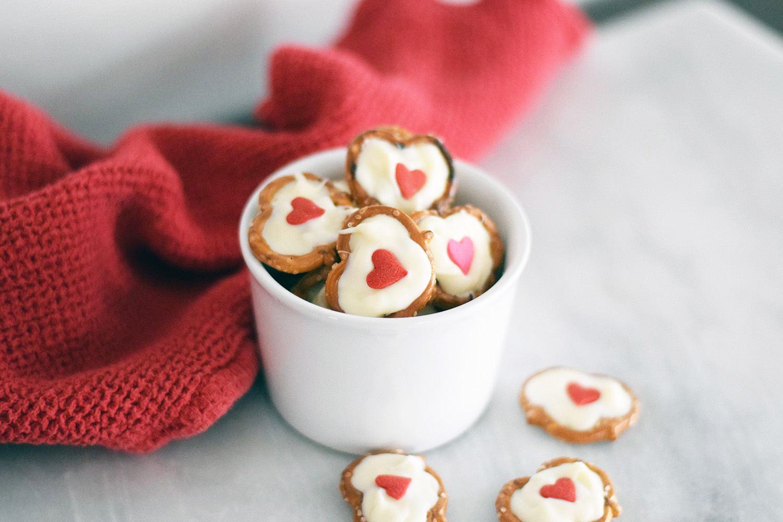 White Chocolate Pretzel Hearts