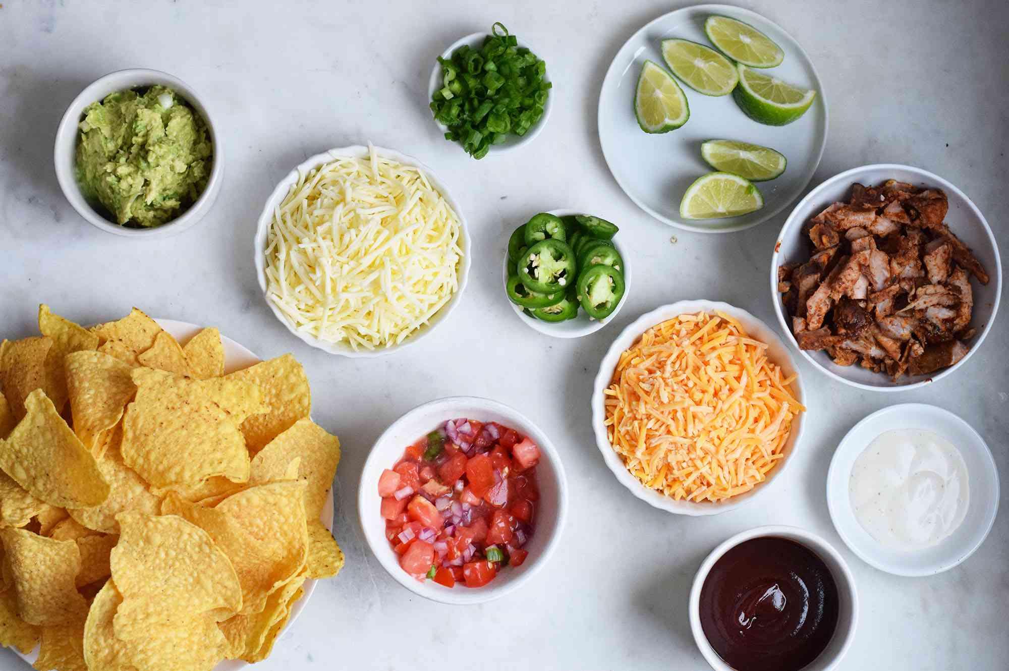 ingredients for pulled pork nachos