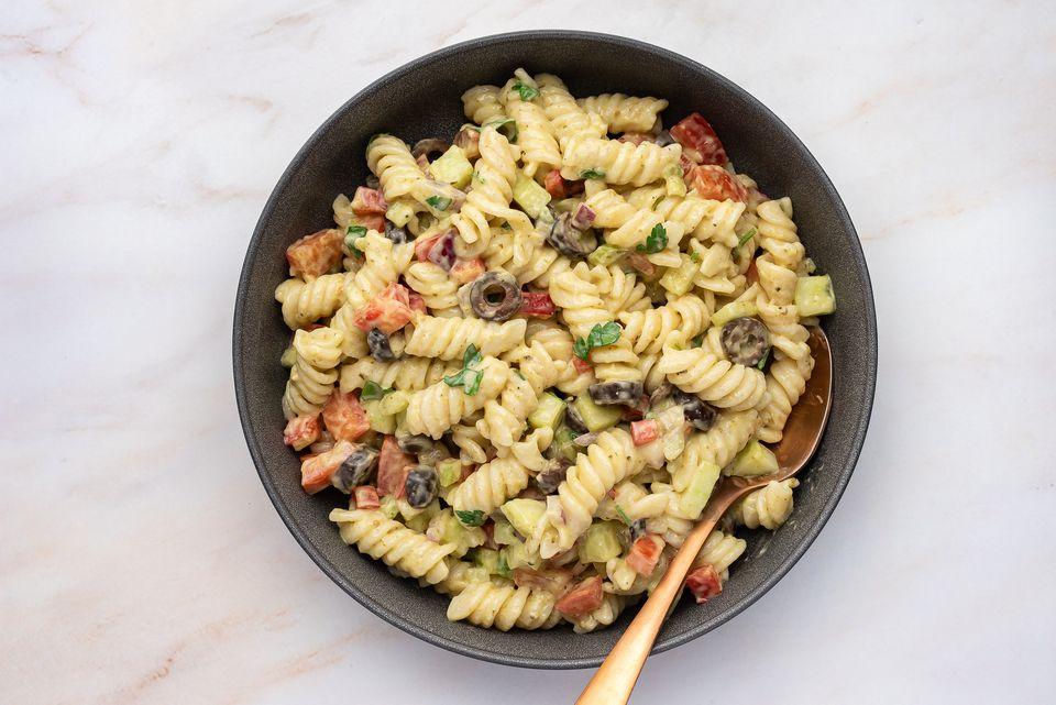 Garden Pesto Pasta Salad With Rotini