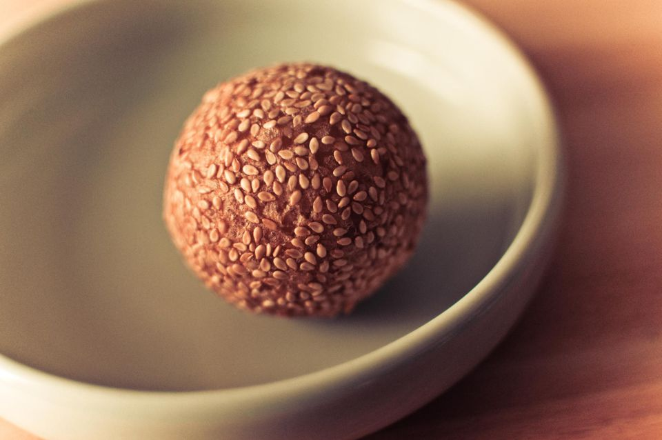 Sesame ball in plate