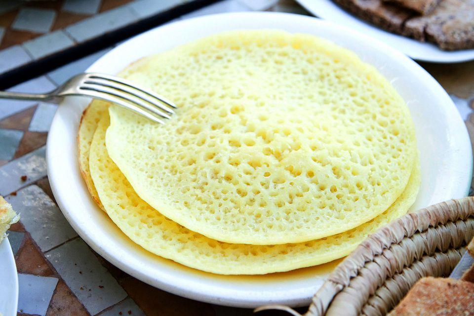 Moroccan Beghrir (Semolina Honeycomb Pancakes)