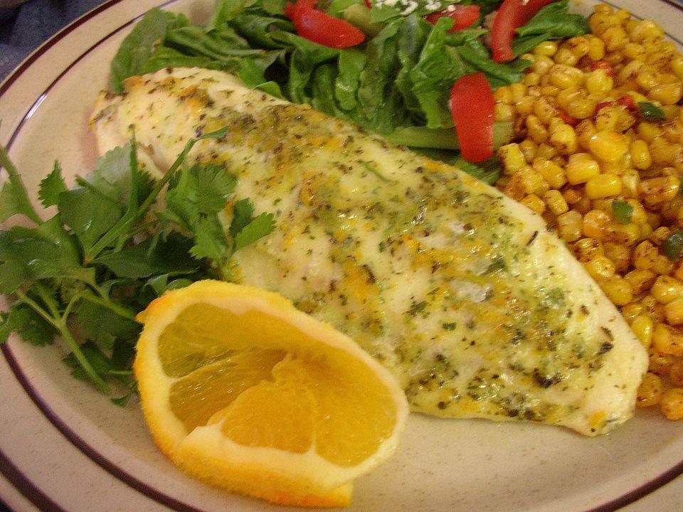 Escabeche de naranja y cilantro para pescado o pollo