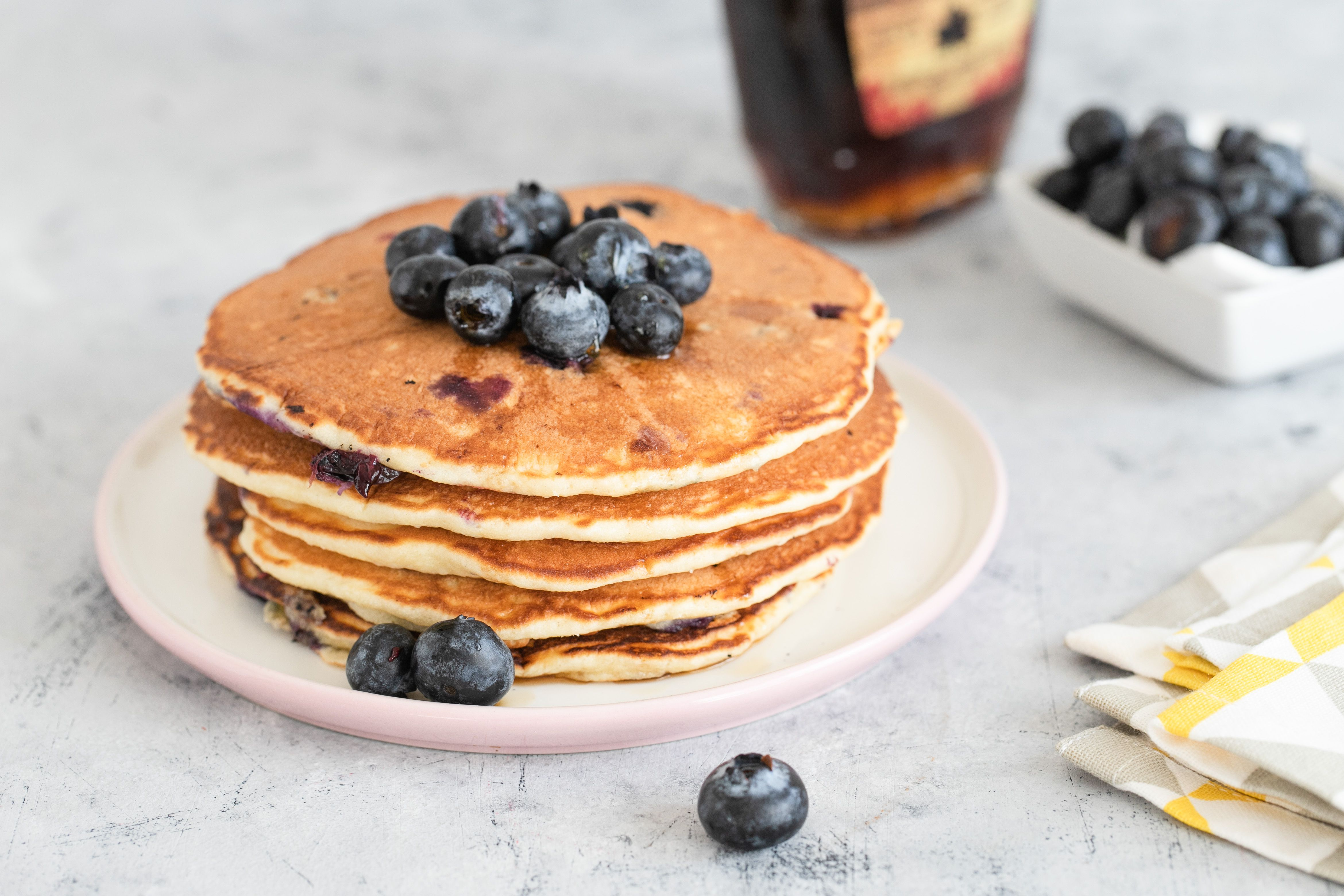 The Perfect Homemade Blueberry Pancakes