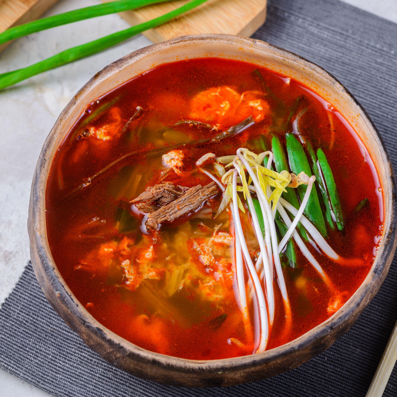 Korean Spicy Beef Soup Yukaejang Recipe