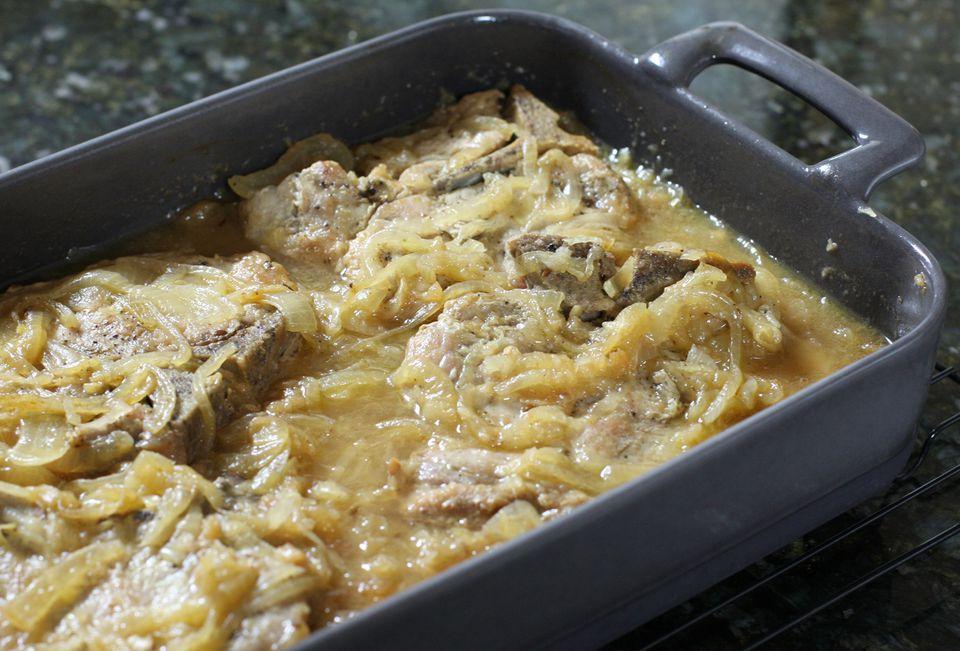 Pork Chop Sauerkraut Bake