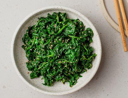 Sigumchi Namul (Korean Seasoned Spinach) Recipe
