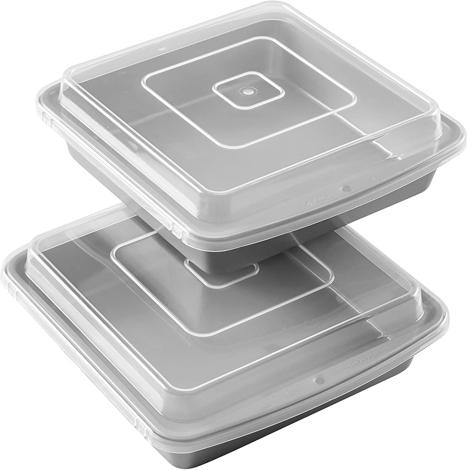 Wilton Recipe Right Nonstick Four-Piece 9-Inch Brownie Pans With Lids