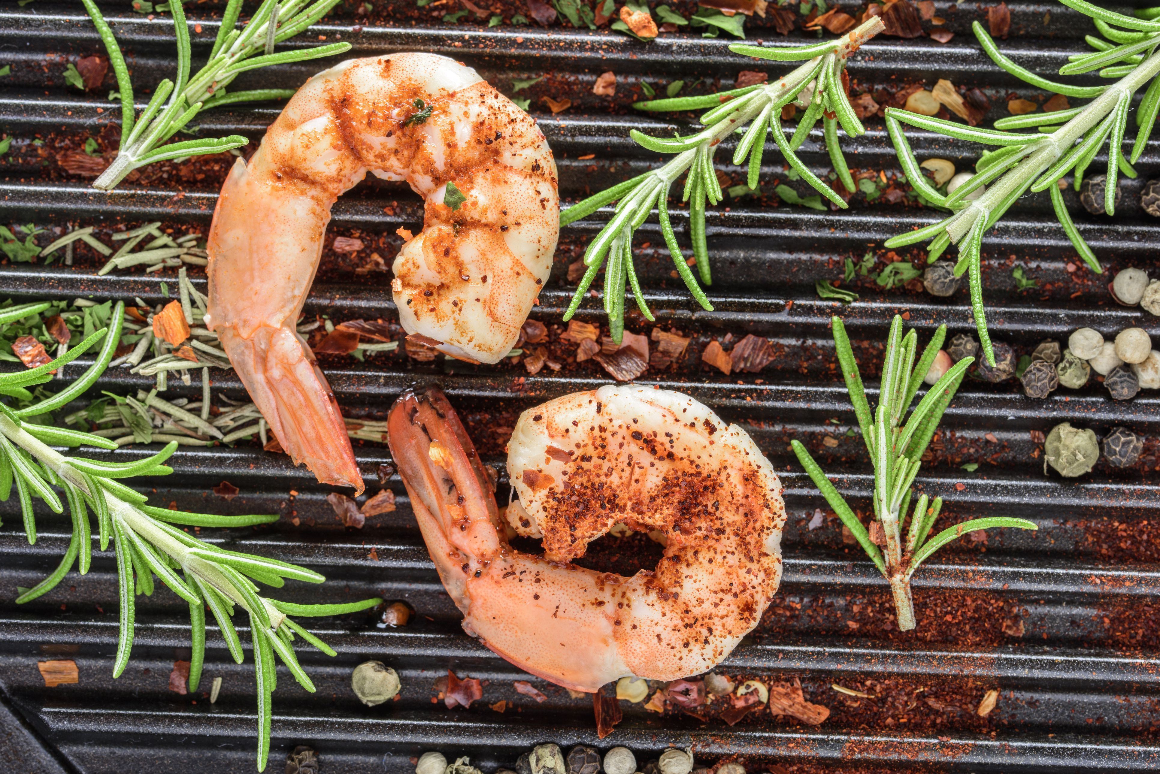 Seasoning Shrimp With Spices