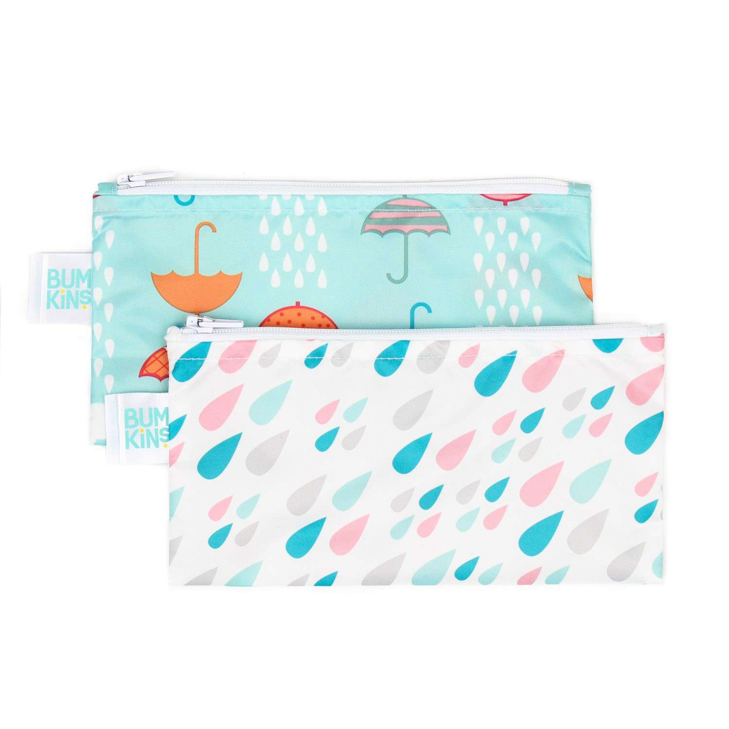 Bumkins Reusable Snack Bags, Small 2-Pack