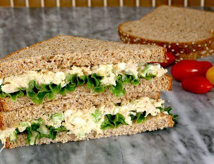 Luncheon tuna salad sandwiches