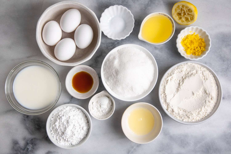 Moroccan Lemon Cake (Meskouta) Recipe ingredients