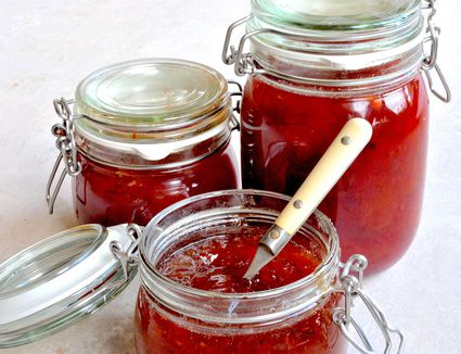Plum and ginger jam