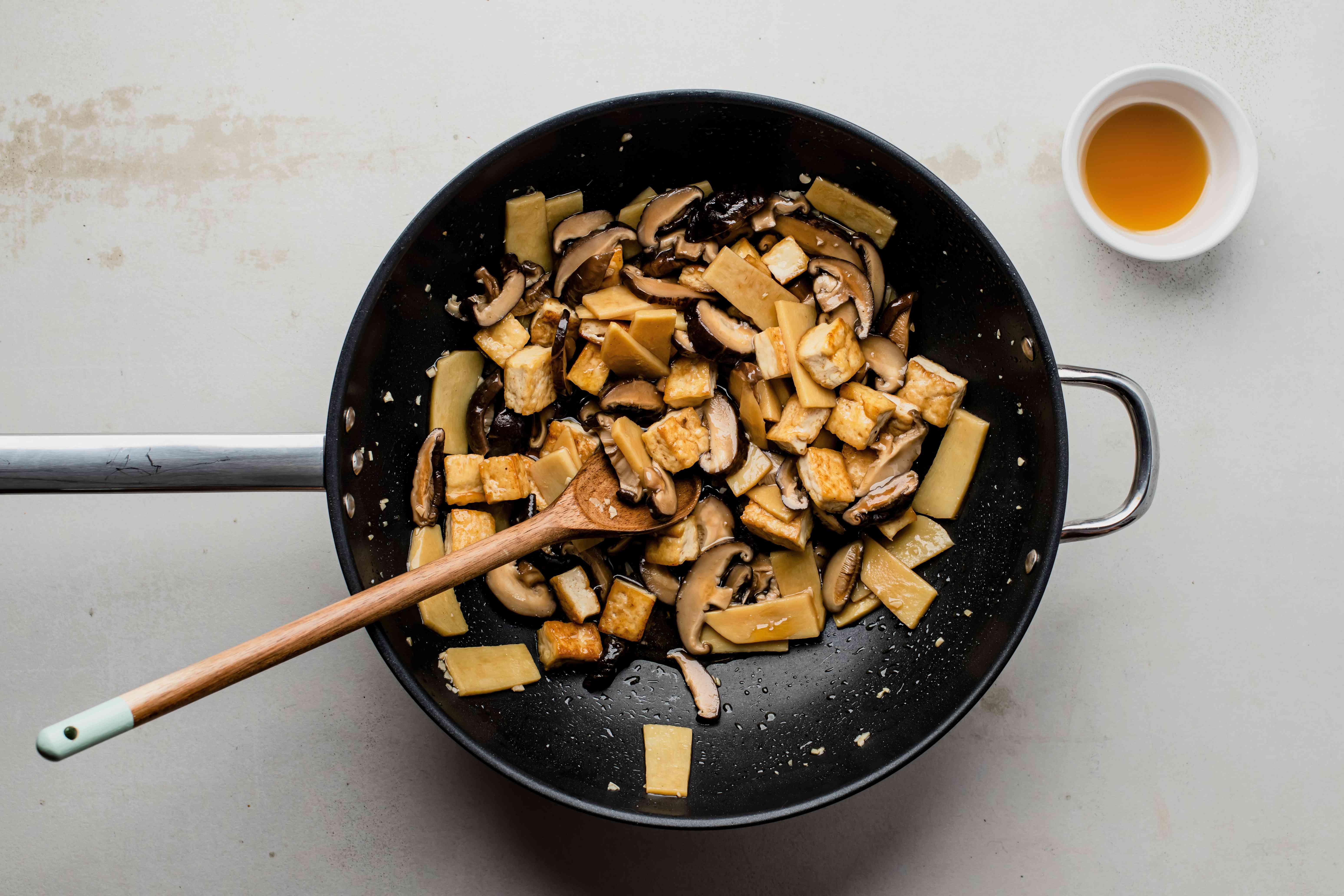 Mushroom and bamboo