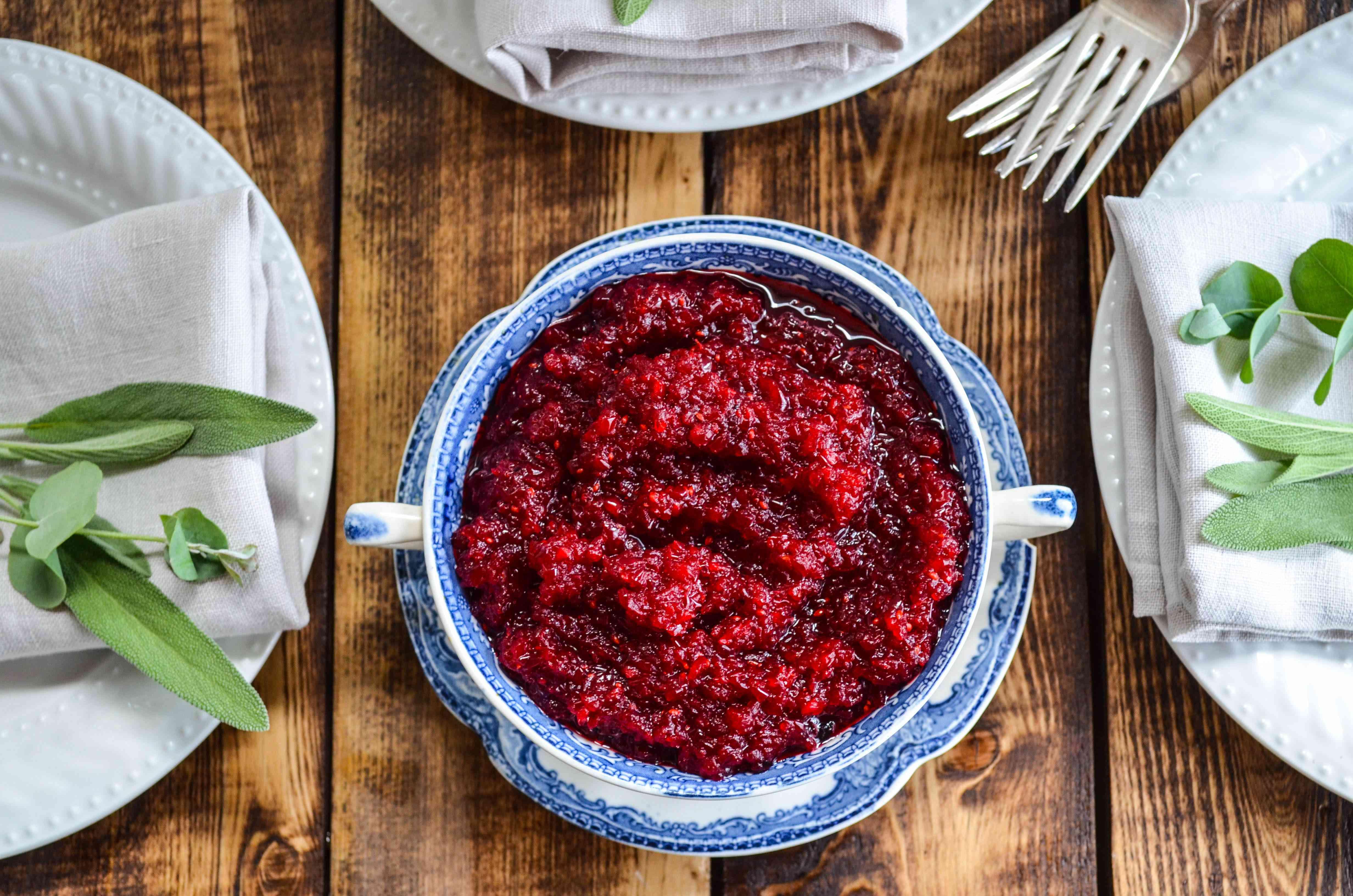 No-Cook Cranberry Relish