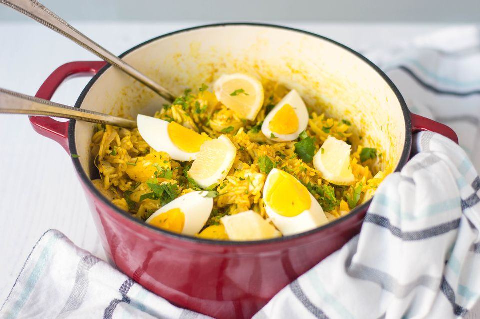 Kedgeree in a pot