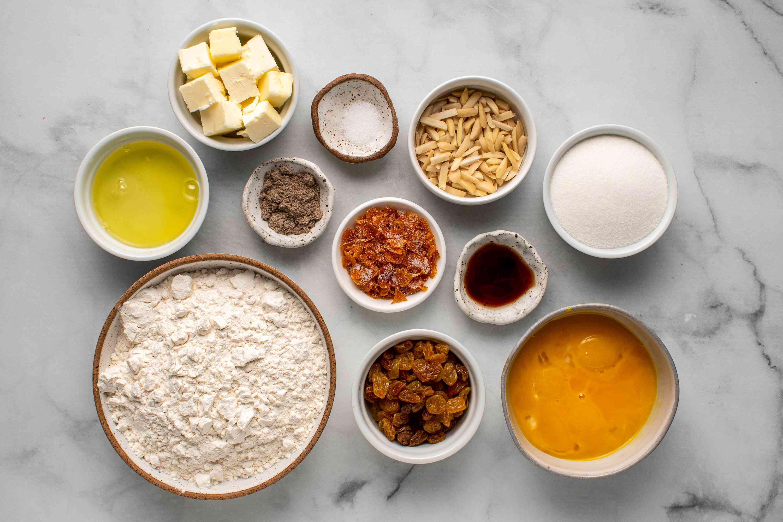 Ingredients to make dough