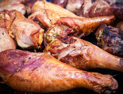 Grilled Buttermilk Turkey Drumsticks