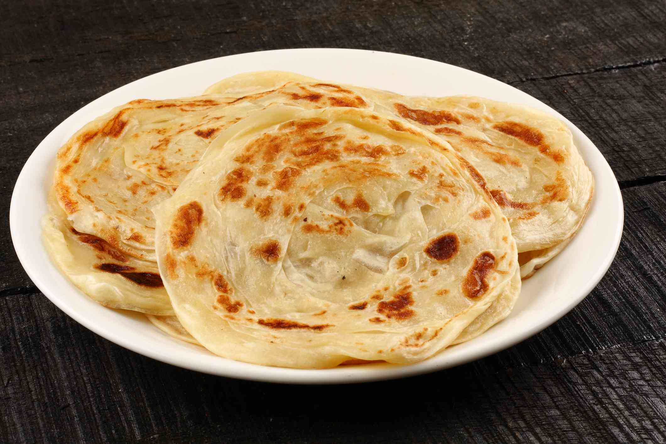 Parathas on a plate