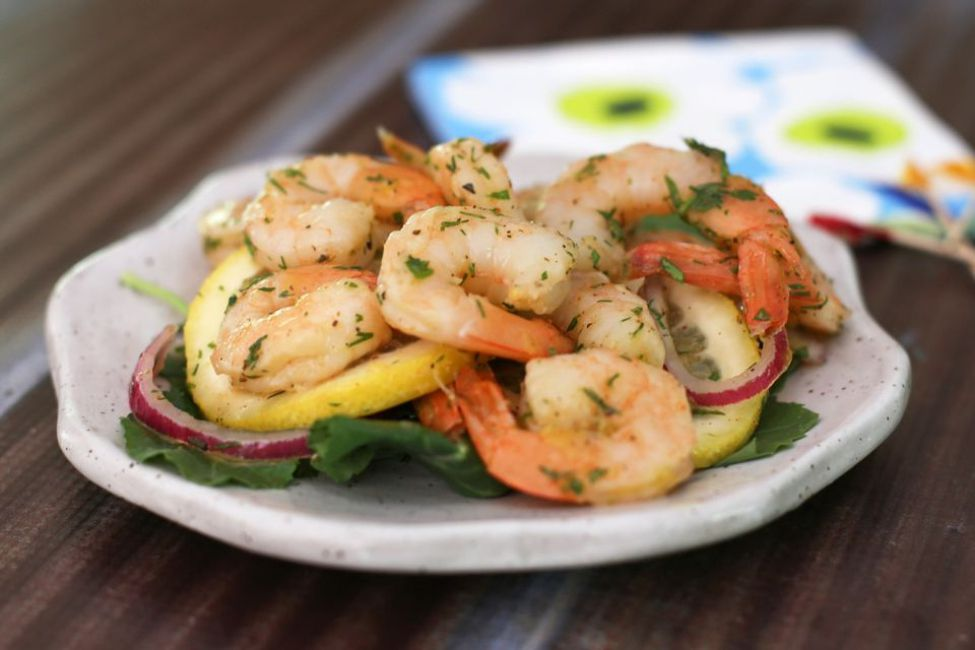 Southern Pickled Shrimp with Fresh Dill
