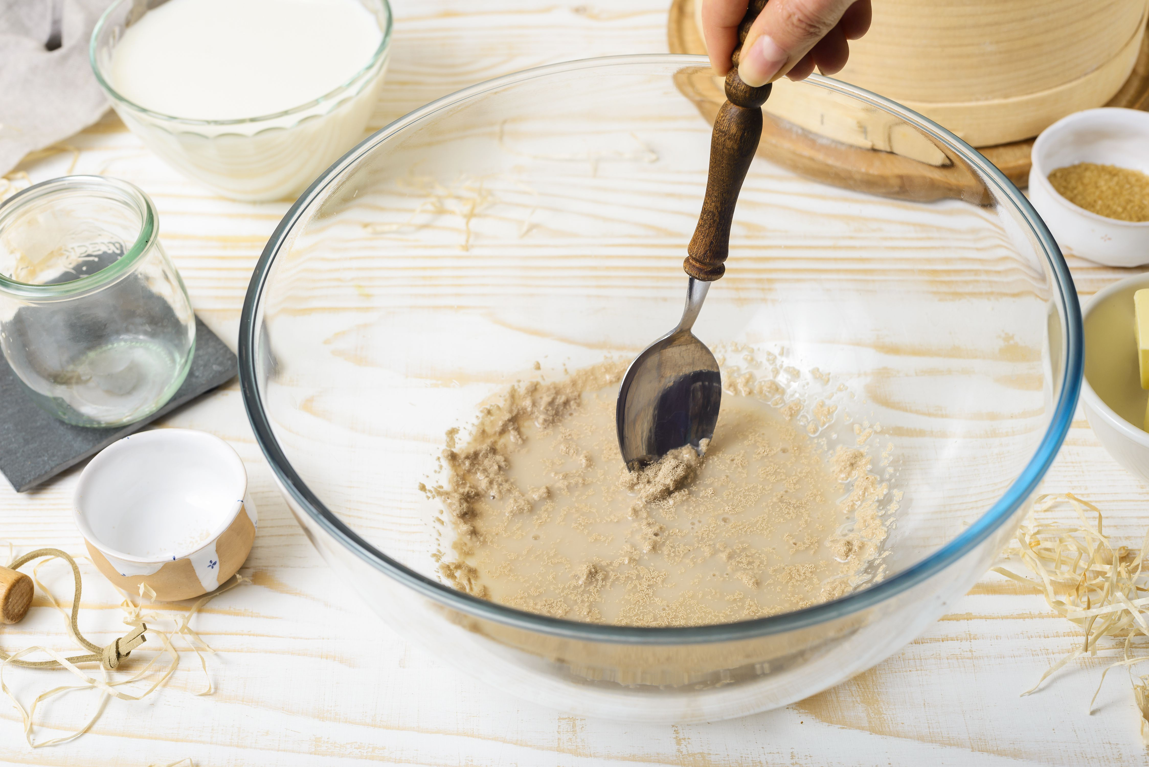 Yeast in bowl