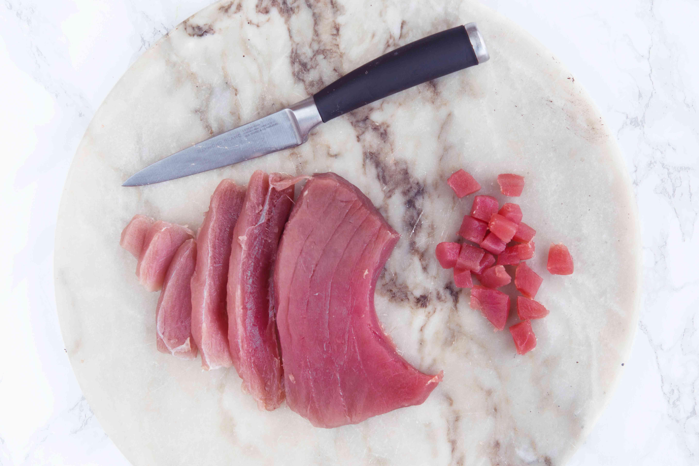 Cut the tuna