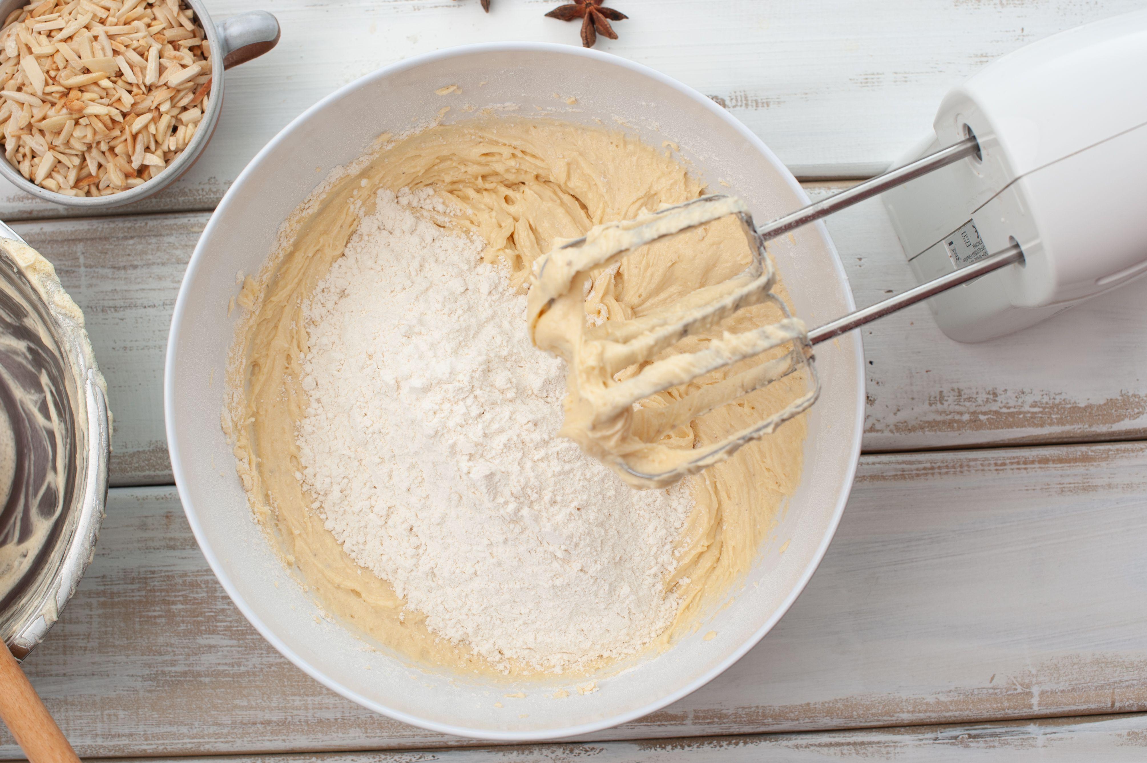 Gradually add flour