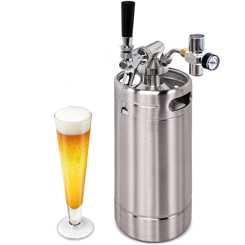 NutriChef Beer Mini Keg System 128oz PKBRTP100.5